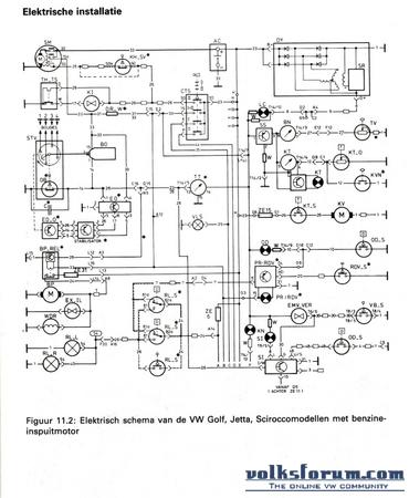 Elektrisch/stroom schema golf mk1 inject